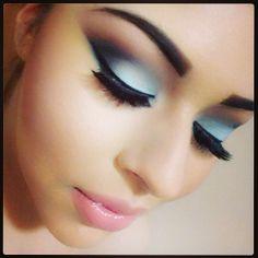 .@Stephanie Salinas | Full Face Look of Saturday's Makeup. Loving MAC's Aqua eyeshadow. #motd #make... | Webstagram