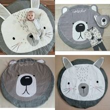 Cartoon Animals Rabbit Bear Quilted Play Mats Baby Blanket Carpet Rug Children Bed Room Decoration Nordic Style Kids Room Decor(China (Mainland))