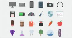 Flatilicious - 48 Free Flat Icons | Free and premium mousemade pixel perfect graphic design and web resources. | pixel-fabric.com