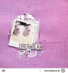 DREAMTEAM Scrapbooking Layout mit dem Juli Kit | von Mel für www.danipeuss.de