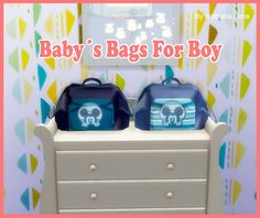 Baby's Bag for Boy at Nathalia Sims • Sims 4 Updates