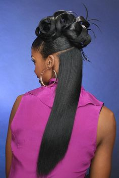 Wish she put the rest in the updo! 90s Hairstyles, Black Girls Hairstyles, Braided Hairstyles, Black Hair 90s, Black Hair Updo, Black Braids, Hair Dos, My Hair, Hair Inspo
