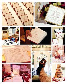 elle ette designs: a romantic fall wedding, burgundy and gold color scheme    www.elleette.com