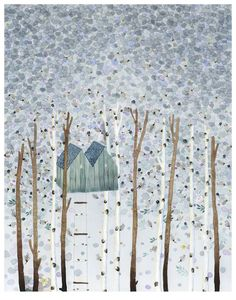 How beautiful is this print?   Tree House print | Anna Emilia