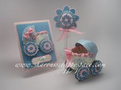Baby carriage and card tutorial using Stampin' Up products!