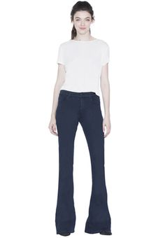 NAVY RYLEY LOW RISE BELL JEAN by Alice + Olivia
