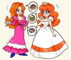 Mario Fan Art, Super Mario Art, Mario Bros., Mario And Luigi, Super Mario Princess, Mario And Princess Peach, Nintendo Princess, Princesa Daisy, Princesa Peach