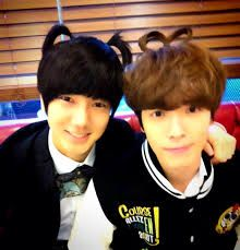 cute(≧∇≦) Donghae and Yesung