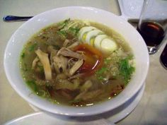Real soto ayam from Java. This is Adi's favorite dish. I must learn to cook it as well as his mom
