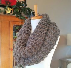 Super chunky Outlander inspired hand knit cowl. by BallAndHook on Etsy