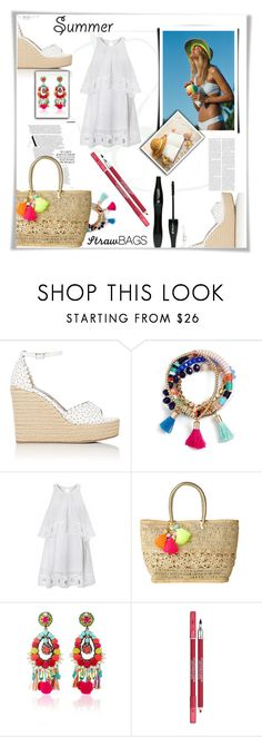 """Summer"" by riborn ❤ liked on Polyvore featuring Tabitha Simmons, BaubleBar, Lilly Pulitzer, Ranjana Khan and Lancôme"