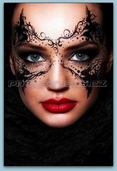 Make-Up Magazine Romania / Masquerade Makeup Mask Masquerade Mask Makeup, Masquerade Ball, Masquerade Wedding, Fantasy Make Up, Maquillaje Halloween, Make Up Art, Eye Art, Costume Makeup, Halloween Make Up
