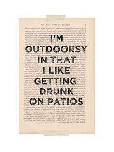 Funny poster And...I have a patio now too. YEAH!!