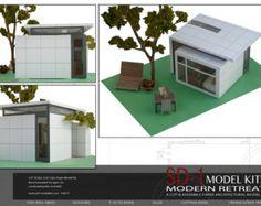 Modern Retreat. A Cut & Assemble Paper Architectural Model Kit
