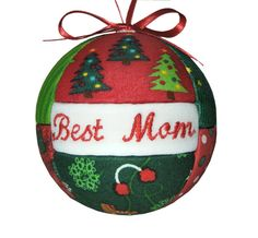 Best Mom Christmas Ornament Tree Decor by CraftCrazy4U on Etsy