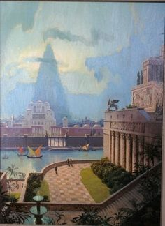 Seven Wonders art by Mario Larrinaga: The Hanging Gardens of Babylon