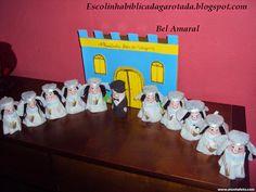 Escolinha Bíblica da Garotada: As 10 virgens feitas com rolinho de papel...
