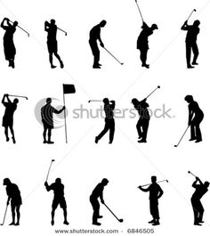 22 Best Siluety Images On Pinterest Golf Art Silhouette And Golf