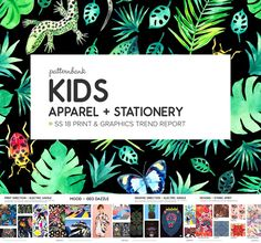 Patternbank are excited tointroduce our latest print trend tool that focuses on the kids & stationery marketfor SS18. Our Childrenswear trendsteam a