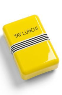 Cute yellow lunch box.  Nordstrom.