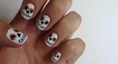 Skeleton Nails!!