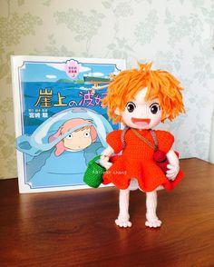 崖上的波妞 #波妞 #Ponyo #Ghibli #amigurumis #crochet #doll #毛線