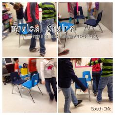 Speech Chic: Musical Chairs-Speech and Langauge Style. Pinned by SOS Inc. Resources siu ki Inc. Therapy Games, Speech Therapy, Therapy Ideas, Accent Chairs For Living Room, Formal Living Rooms, Speech Language Pathology, Speech And Language, Movie Chairs, Musical Hair
