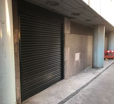 Our RSG5700 Fire Rated Roller Shutters supplied and installed to bin stores in new commercial car park in Croydon.