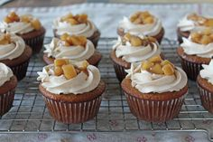 Hard Cider Cupcakes with Fireball Whiskey Frosting   21 Deliciously Boozy Cupcakes To Warm You Up This Fall