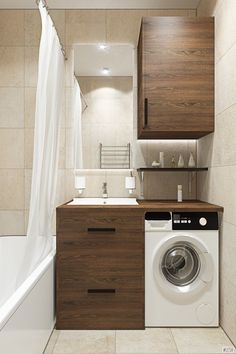 small laundry room is totally important for your home. Whether you pick the bathroom remodel tips or mater bathroom, you will make the best serene bathroom for your own life. Small Bathroom Storage, Bathroom Organization, Bathroom Shelves, Ideas Baños, Room Ideas, Serene Bathroom, Bathroom Modern, Small Laundry, Laundry Rooms