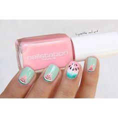 Une petite dernière du nailnart watermelon pastel.  #nailart  #pastelnails