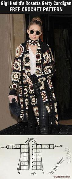 How to Crochet Gigi Haddid's Rosetta Getty Cardigan