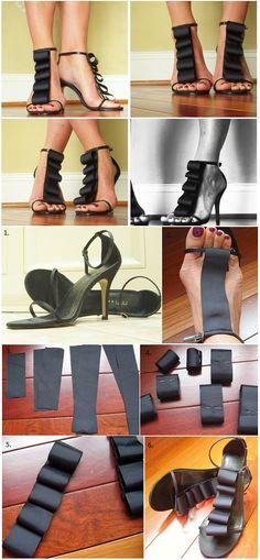 26 Ideas DIY para decorar tus zapatos y zapatillas, con distintas tecnicas que les darán un nuevo aspecto y te encantarán.