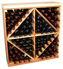 Pine Solid Diamond Bin. This solid wooden wine cube is a perfect alternative to column-style racking kits. $189