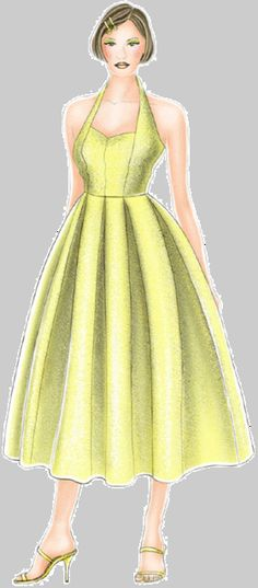 FREE 50s Vintage Style Dress Sewing Pattern and Tutorial