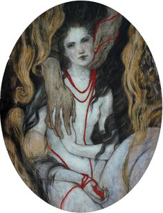 Red Beads, original oil by Rebecca Léveillé-Guay available at the R. Michelson Galleries- SOLD