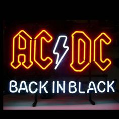 Outdoor neon signs cheap us ac dc back in black sign signboard real glass beer bar Neon Bar Lights, Neon Light Signs, Neon Lighting, Ac Dc, Wine Signs, Beer Signs, Pop Rock, Rock Roll, Mugs