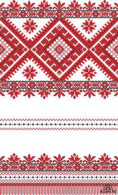 embroidered good like handmade cross-stitch ethnic Ukraine pattern Stock Photo - 8949312 Cross Stitch Borders, Cross Stitch Flowers, Cross Stitch Charts, Cross Stitch Designs, Cross Stitching, Cross Stitch Patterns, Folk Embroidery, Cross Stitch Embroidery, Embroidery Patterns