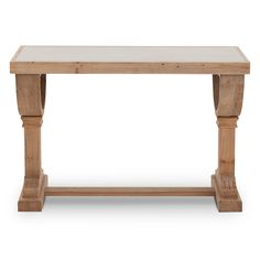 Bring home traditional beauty with the Empire desk made of solid recycled fir with an old pine finish.