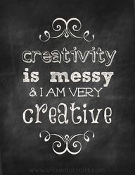 creativity is messy...this blog had 45 or more creative organizational concepts and tips, etc.