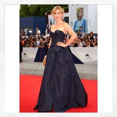Radha Mitchell wearing #marchesa #re16 at the #venicefilmfestival.