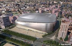 Image 4 of 8 from gallery of gmp Wins Bid to Redevelop Real Madrid's Bernabeu Stadium. Photograph by Real Madrid Real Madrid New Stadium, Santiago Bernabeu, Sport Park, Tokyo Skytree, Sports Stadium, Sports Complex, Football Stadiums, Dream House Exterior, Futuristic Architecture