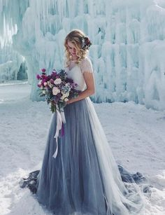 28 Classic Blue Wedding Dresses For Every Bride To Stand Out Blue Wedding Gowns, Colored Wedding Dresses, Wedding Colors, Wedding Styles, Bridal Gowns, Dress Wedding, Pretty Dresses, Beautiful Dresses, Simple Dresses