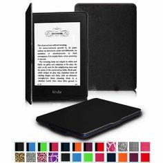 """Fintie Kindle Paperwhite SmartShell Case - The Thinnest and Lightest Leather Cover for Amazon Kindle Paperwhite (Both 2012 and 2013 Versions with 6"""" Display and Built-in Light), Black Fintie http://www.amazon.com/dp/B009S2CXLK/ref=cm_sw_r_pi_dp_dZGHub0FGFB45"""