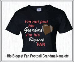 Personalized Glitter/Rhinestone Football Grandma by Ravensnestts