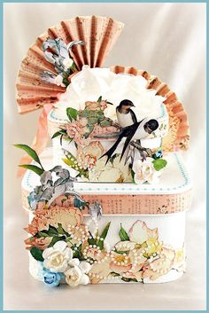 Two Tiered Altered Boxes - Graphic 45 and Zva Creative