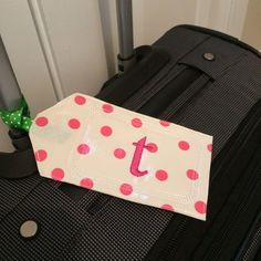 Personalized Luggage Tag/Monogrammed Luggage by ShopMayfieldLane