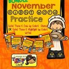 Create a book with this a total of 86 pages for your November Sight Word Practice! This includes 15 page book for Pre-Primer Sight Word Practice, 2...