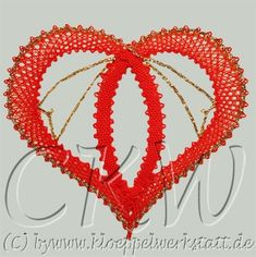 Lace Heart, Lace Jewelry, Bobbin Lace, Happy Valentines Day, Lace Detail, Tatting, Knit Crochet, Diy And Crafts, Crochet Patterns