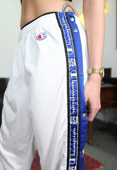 VINTAGE CHAMPION WHITE TRACKSUIT BOTTOMS- LUCKYGIRLVINTAGE